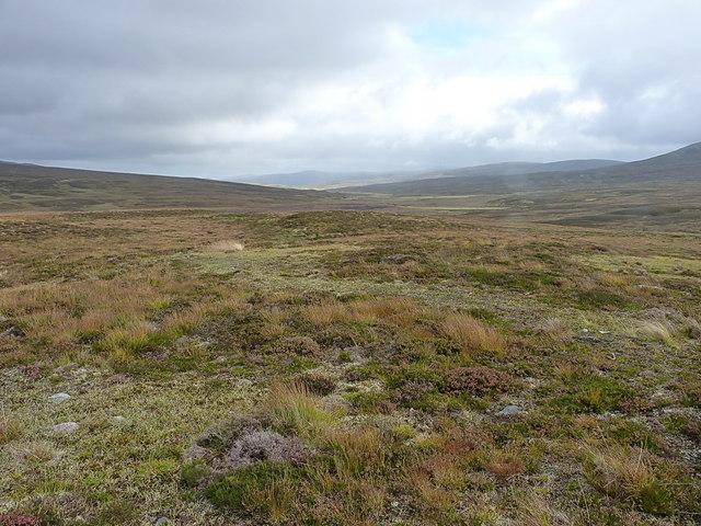 Downhill into the Geldie valley