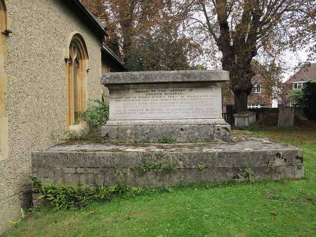 Russell tomb in st Michael's churchyard, Wilmington