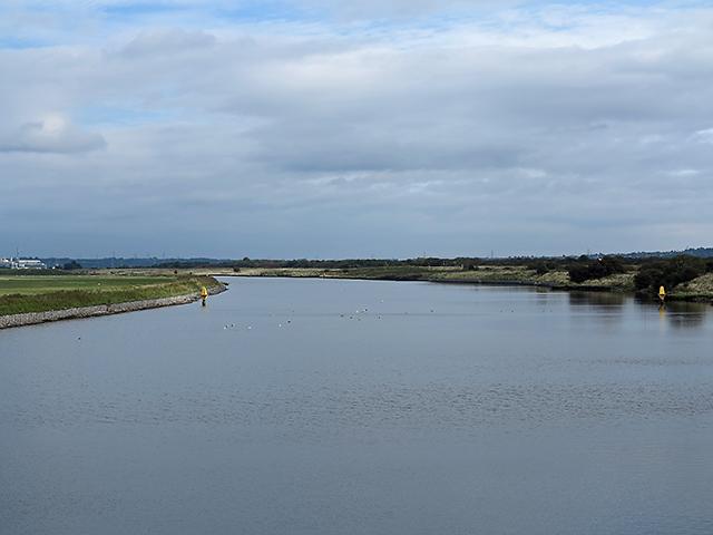 Manchester Ship Canal near Frodsham Score