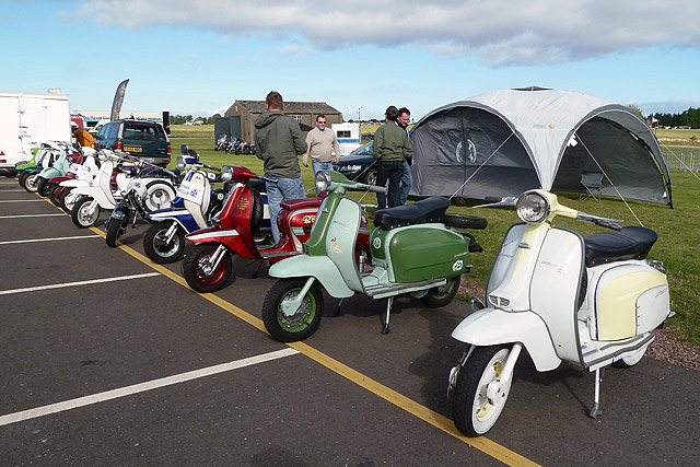 The East Lothian Scooter Club at East Fortune