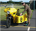 NT5578 : A vintage AA Patrol motorcycle and sidecar by Walter Baxter