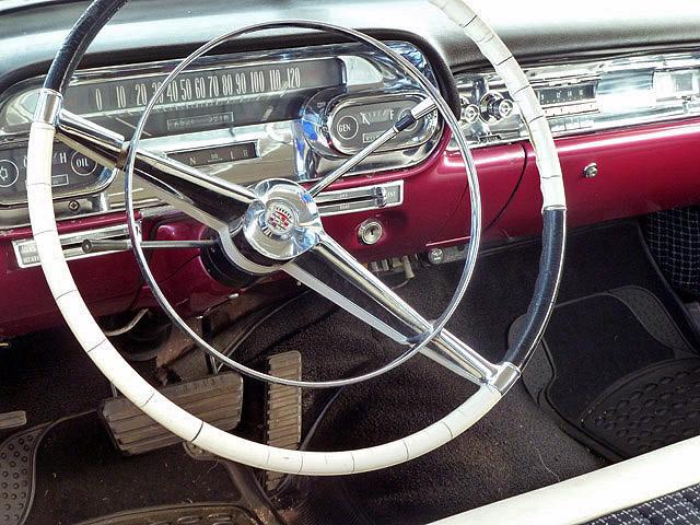 Inside a 1957 Cadillac