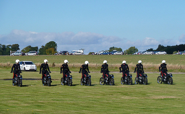 The White Helmets Display Team at East Fortune
