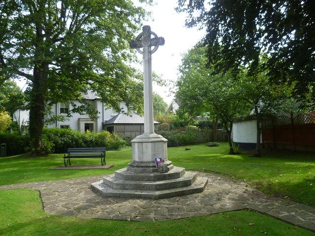 Long Ditton War Memorial in its garden