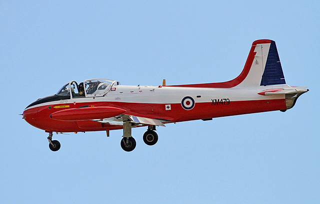 A Jet Provost flying display at East Fortune