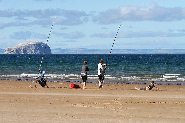 Sea angling at Belhaven Bay, Dunbar
