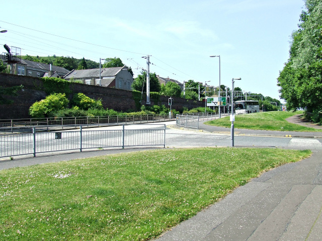 Former A8 dual carriageway