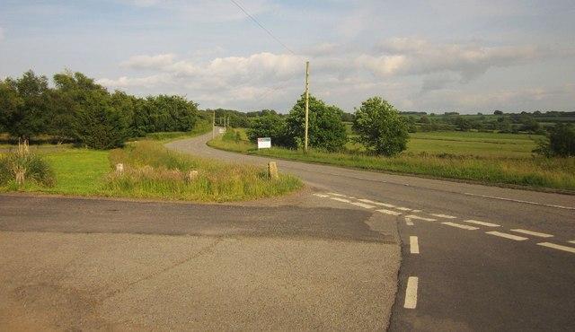 B3227 at New Moor Cross