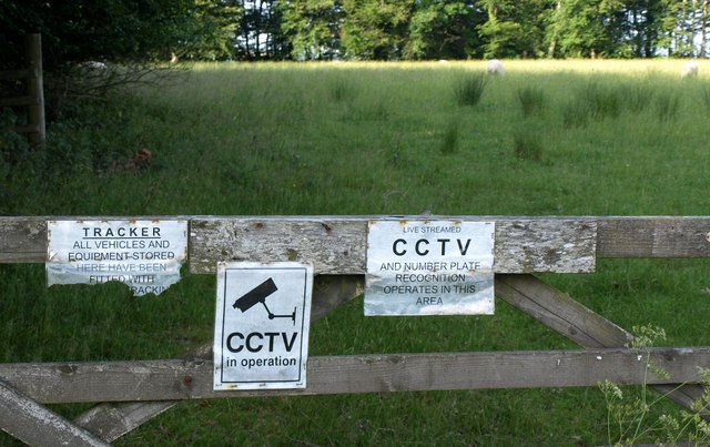 Notices at Whiteford Cross