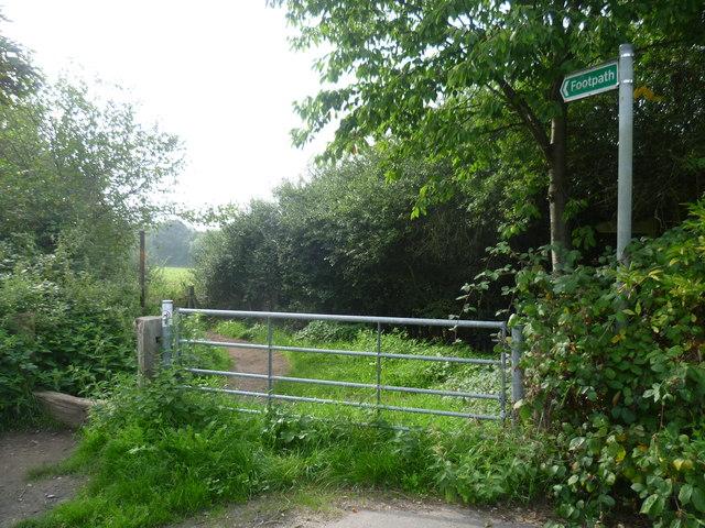 Bridleway leading off Mansfield Road