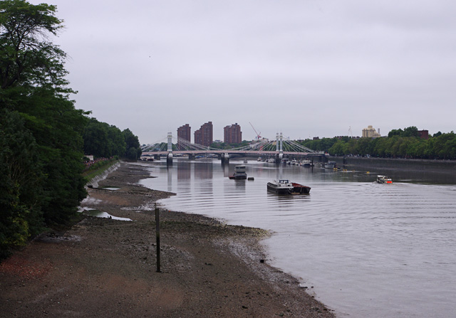 River Thames, upstream from Chelsea Bridge