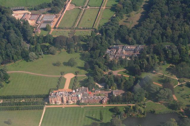 Sandringham House, aerial 2013