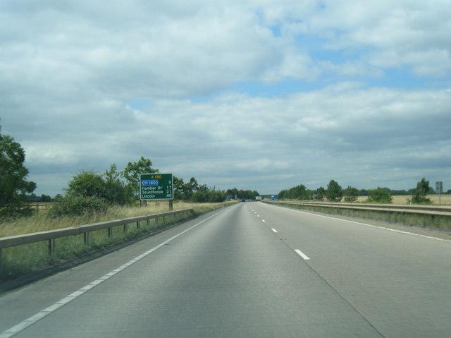 A180 westbound