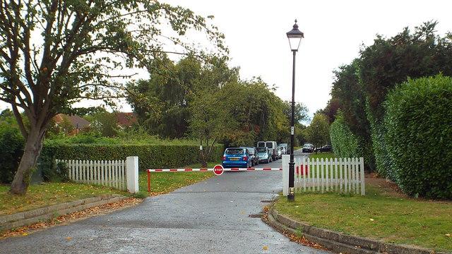 Entrance barrier, Moor Park Estate