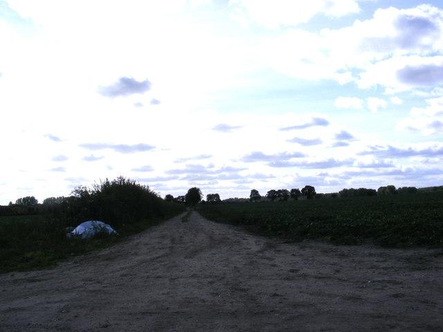 Field entrance off Green  Lane