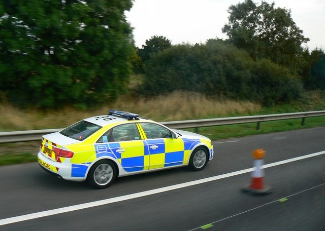Police car, M5 south of Jct 2, West Midlands