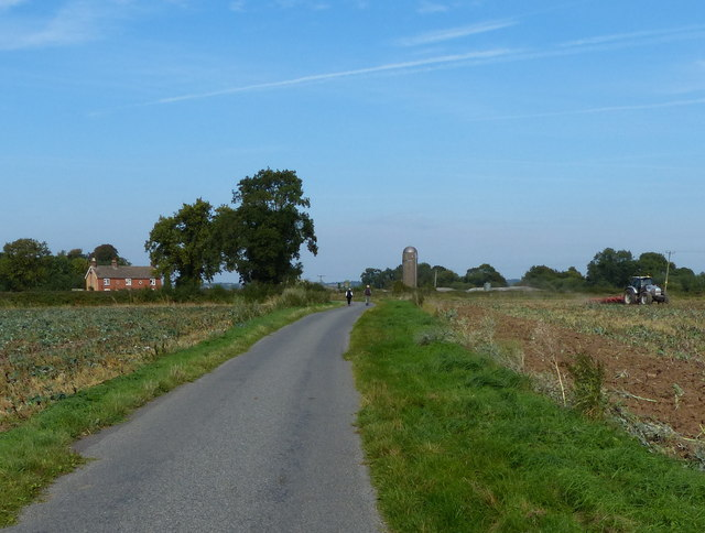 North along Barley Lane towards Foston