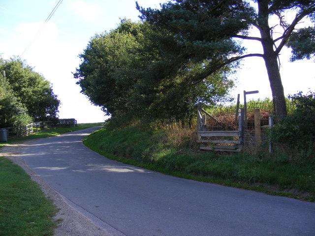 Green Lane & footpath