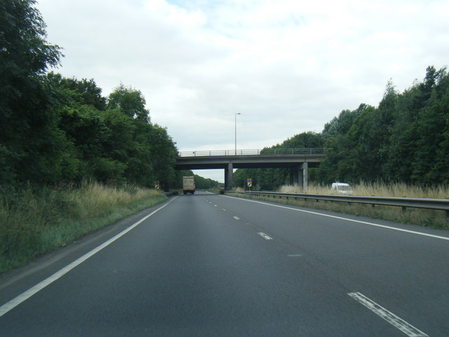 A180 passes under Station Road