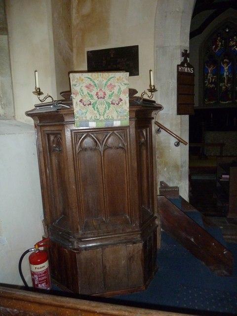 All Saints, Norton Bavant: pulpit