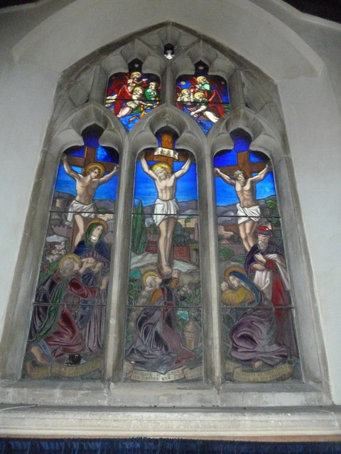 All Saints, Norton Bavant: stained glass window (a)