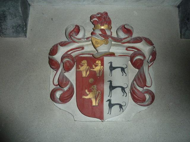 All Saints, Norton Bavant: coat of arms