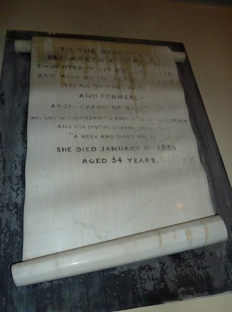 All Saints, Norton Bavant: memorial (6)