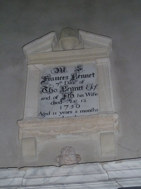 All Saints, Norton Bavant: memorial (27)