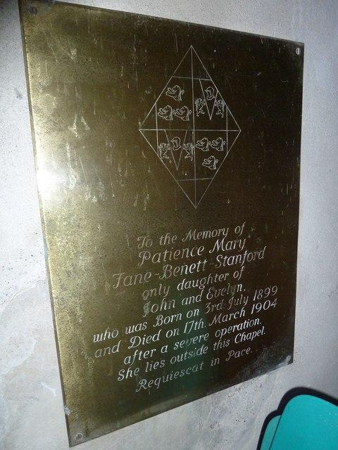 All Saints, Norton Bavant: memorial (7)