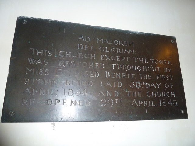 All Saints, Norton Bavant: restoration commemoration