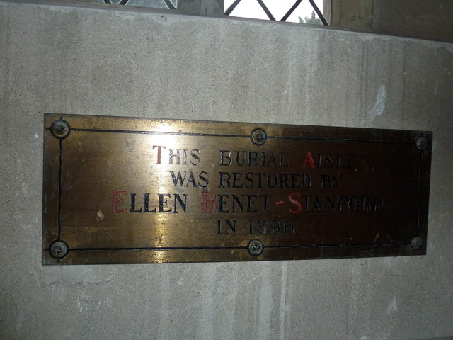 All Saints, Norton Bavant: memorial (9)