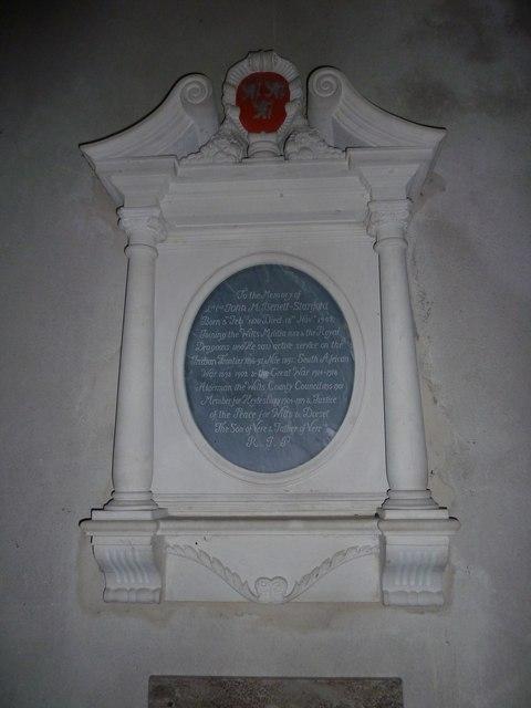 All Saints, Norton Bavant: memorial (11)