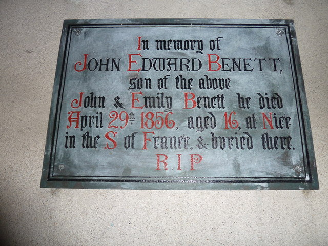 All Saints, Norton Bavant: memorial (14)