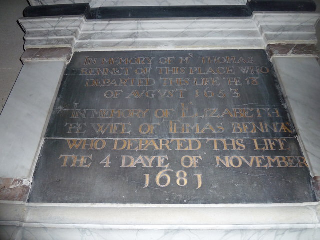 All Saints, Norton Bavant: memorial (15)