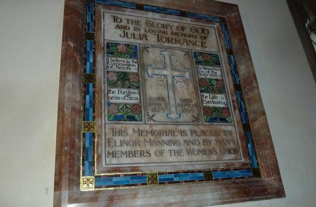 All Saints, Norton Bavant: memorial (16)