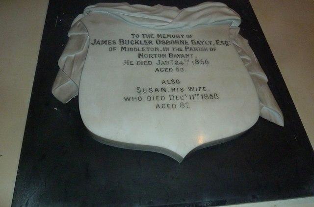 All Saints, Norton Bavant: memorial (17)
