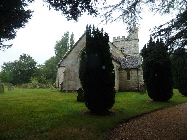 Atrocious weather at All Saints, Norton Bavant (A)