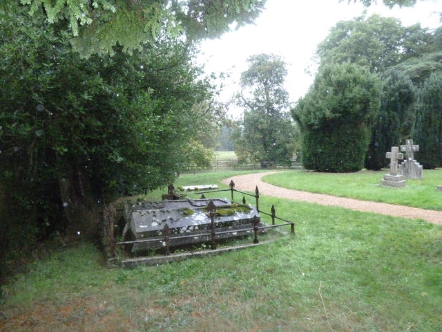 Atrocious weather at All Saints, Norton Bavant (C)