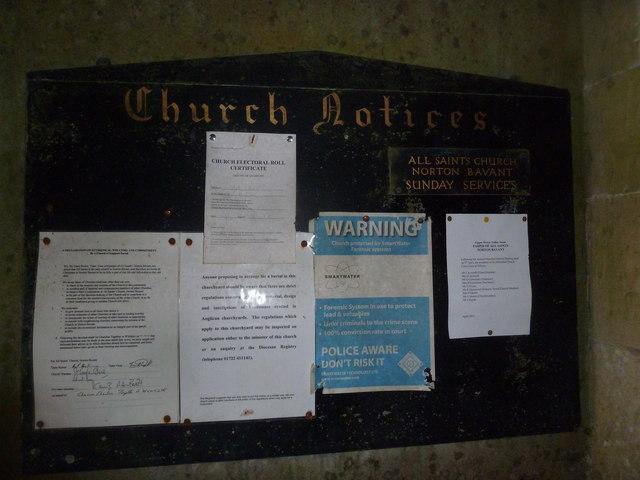 Inside All Saints, Norton Bavant (II)