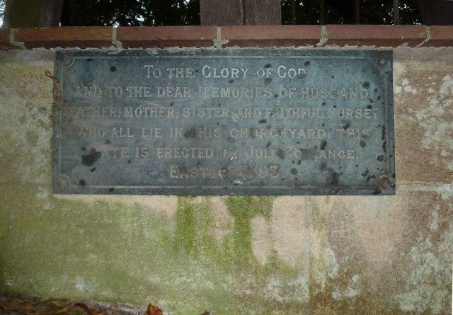 All Saints, Norton Bavant: memorial (28)