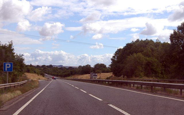 A303 parking area south of Bourton