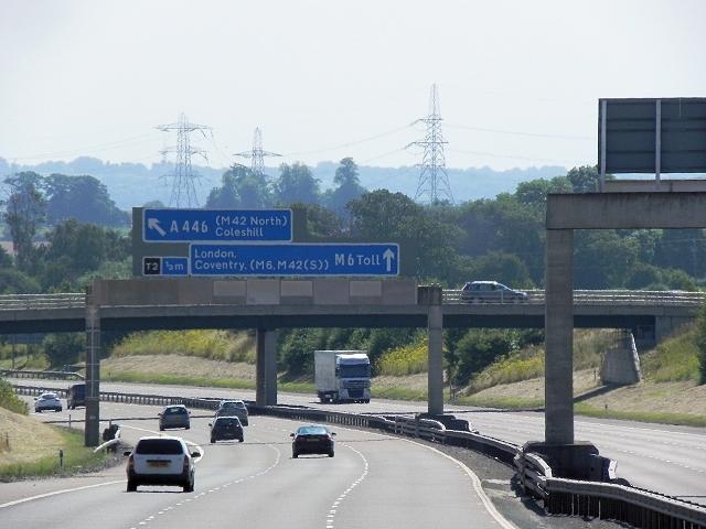 M6 Motorway Approaching Grove Lane Bridge