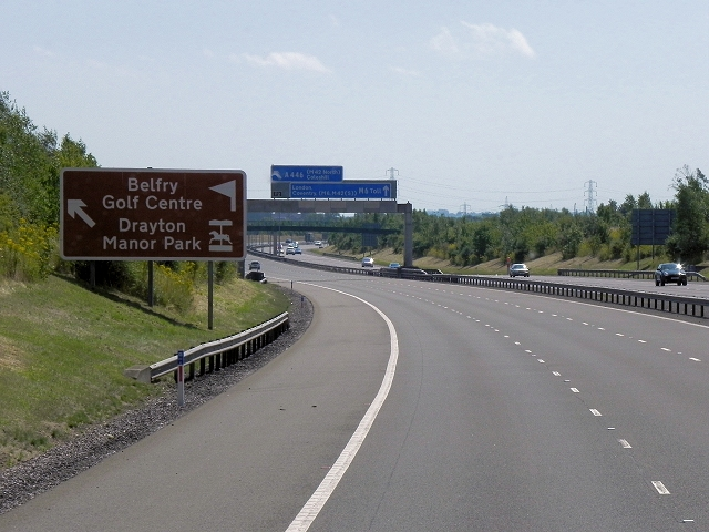 M6 Toll Road near The Belfry