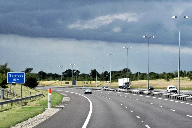M6 Toll Road (northbound) near Rye Farm