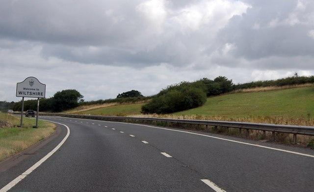 A303 entering Wiltshire