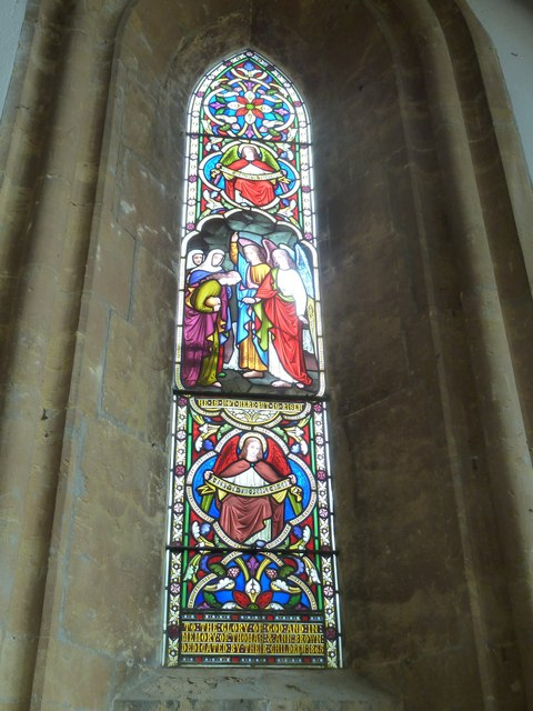 St Mary, Bridport: stained glass window (b)
