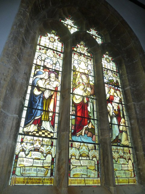St Mary, Bridport: stained glass window (d)