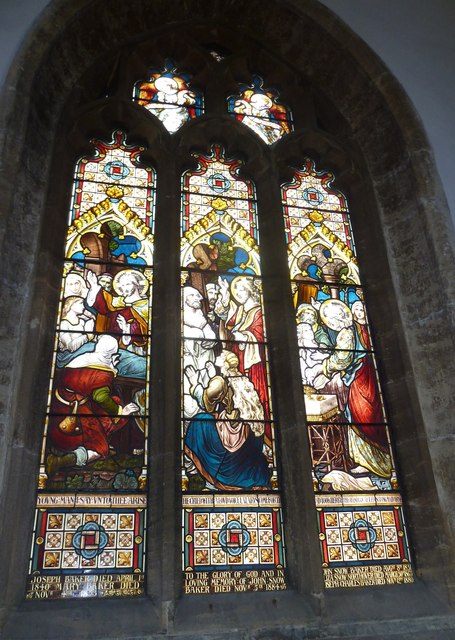 St Mary, Bridport: stained glass window (e)