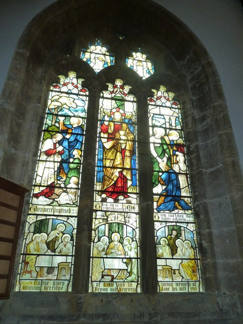 St Mary, Bridport: stained glass window (f)