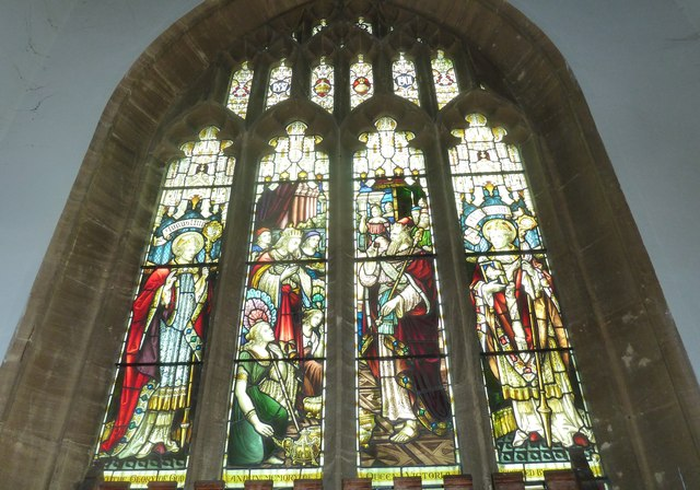St Mary, Bridport: stained glass window (g)